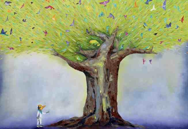 "The Singing Tree. Oil. 48""X60"""