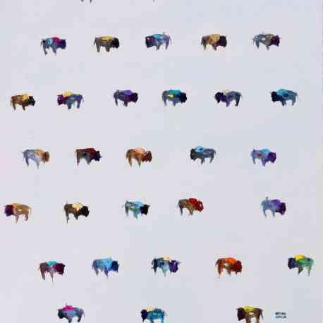 """""""Buffalo Rug"""". Oil on canvas. 36""""X48"""". Original Available."""