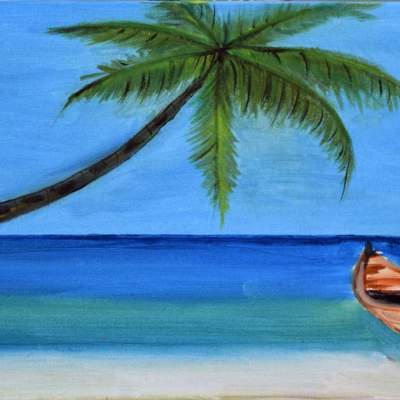 "Koh Payam Beauty. Oil. 12""X24"". Available."