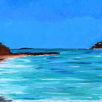 """Mandelieu-La Napoule. Acrylic on Canvas. 18""""X36"""" Available"""
