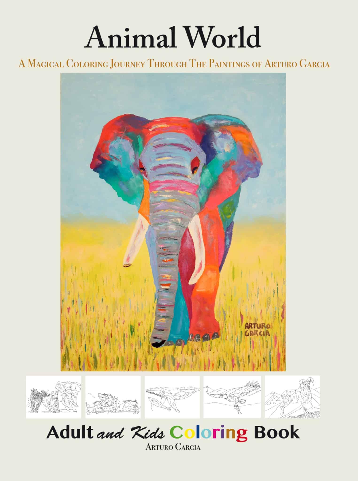 Animal World: Coloring Book