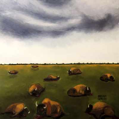 """The Wounded Plain. Oil. 24""""X24"""". Available for Sale."""