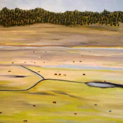 """Yellowstone. Oil. 18""""X22"""". Available for Sale."""