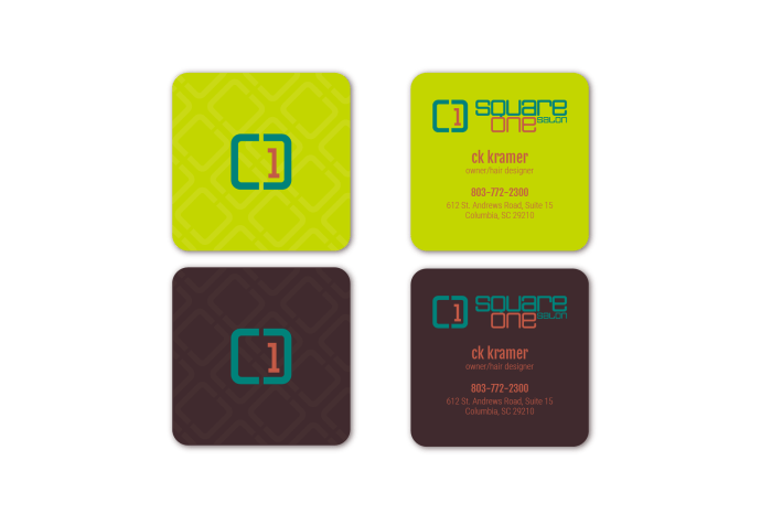 Square One Salon Business Cards