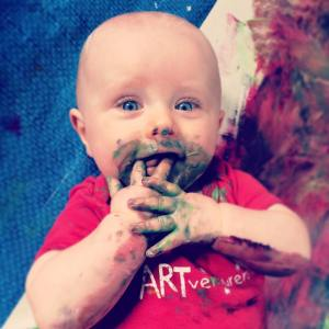 ARTventurers tyne valley hexham baby class messy paint