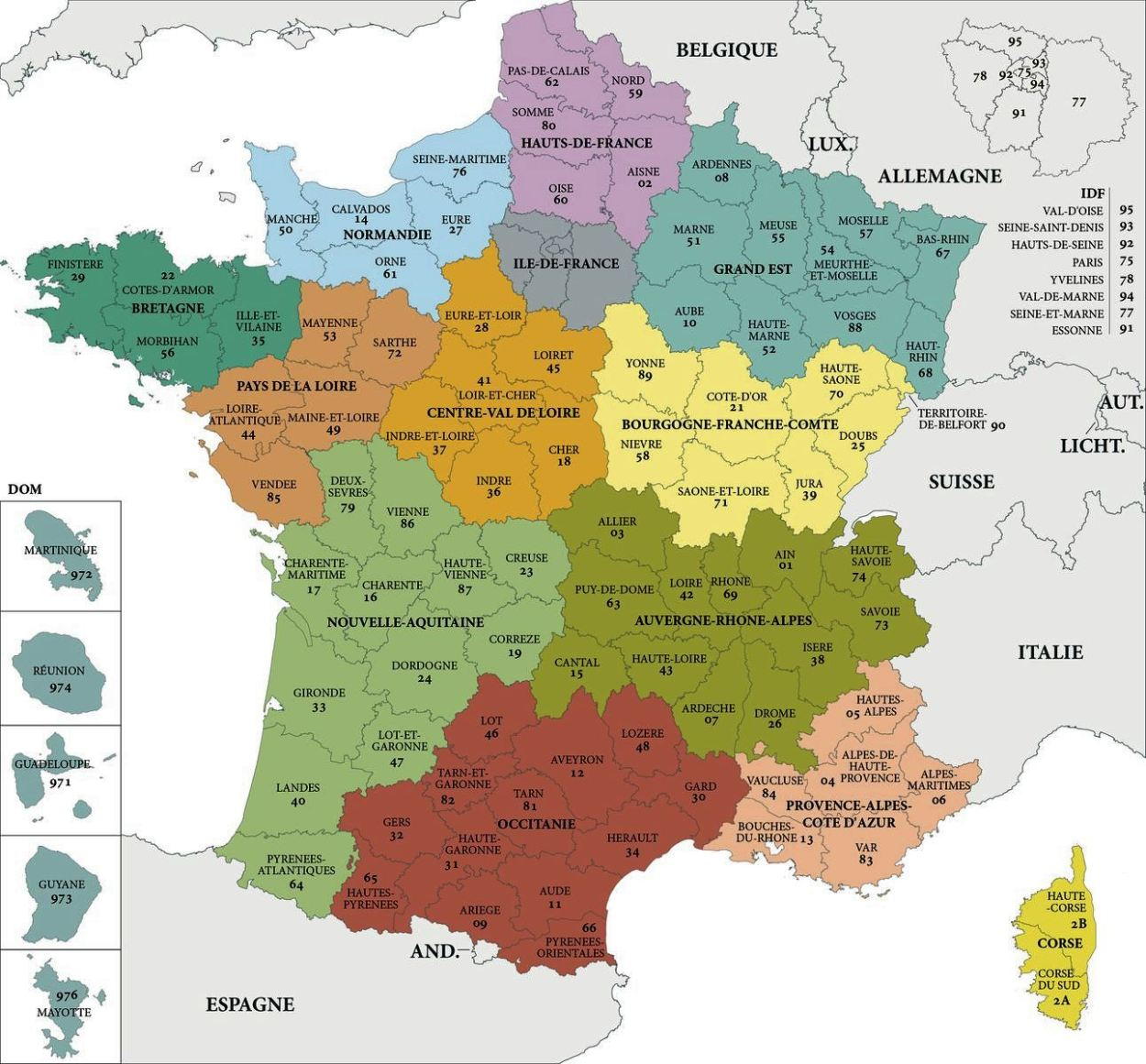 carte de france departement 71 - Les cartes de france et région