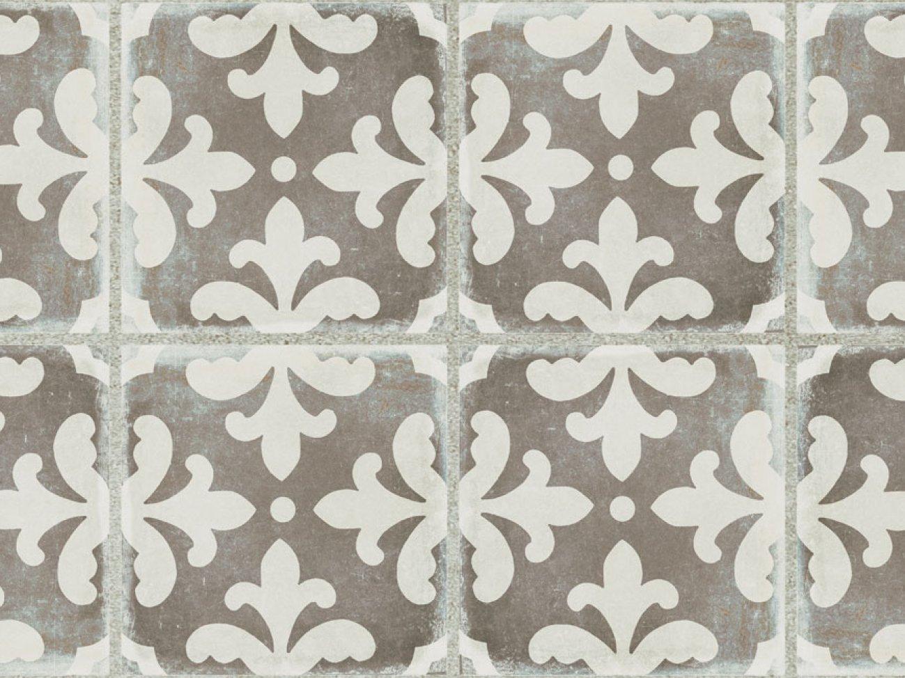 palazzo tile florentina deco 12 x 24 vintage grey