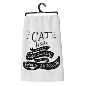 Cat Hair - Both an ingredient and a fashion accessory Dish Towel