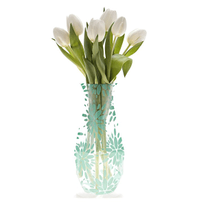 Lila Teal Collapsible Vase