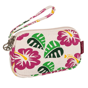 Hibiscus Flowers Bungalow 360 Clutch Coin Purse
