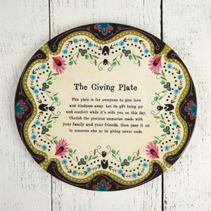 Ivory Floral Giving Plate