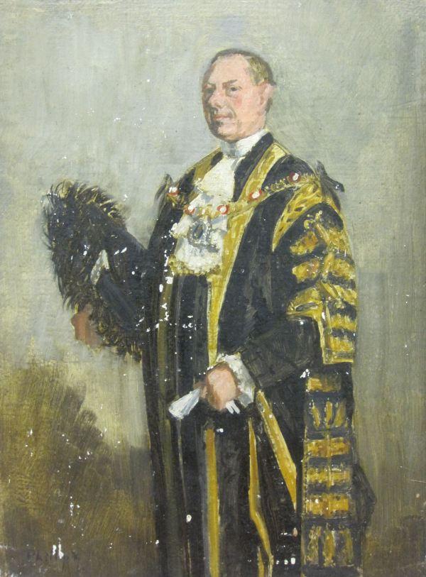 Portrait Of Sir Denys Colquhoun Flowerdew Lowson Bt Ma