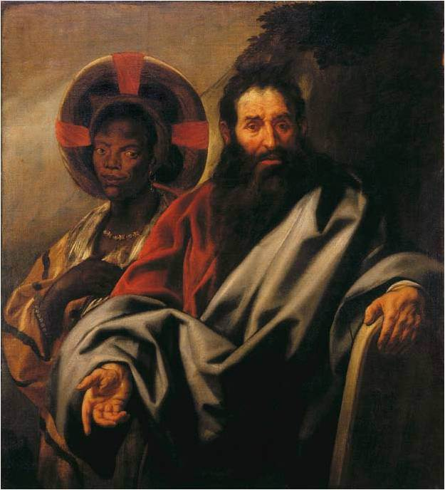 Jacob Jordaens. Moses and his Nubian wife.