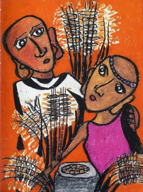 Boaz and Ruth by Karin Kraus