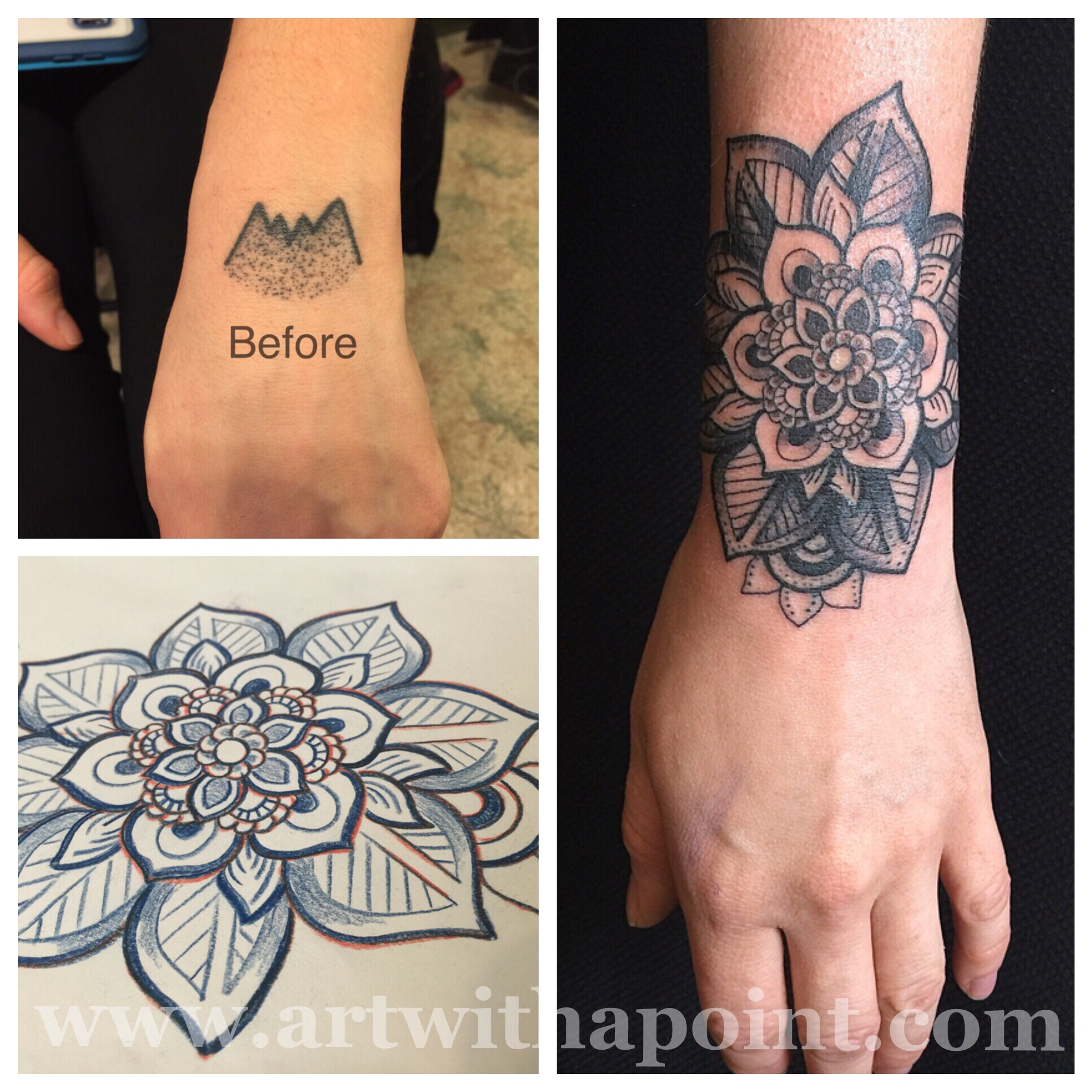 Black Cover Up Tattoo Designs