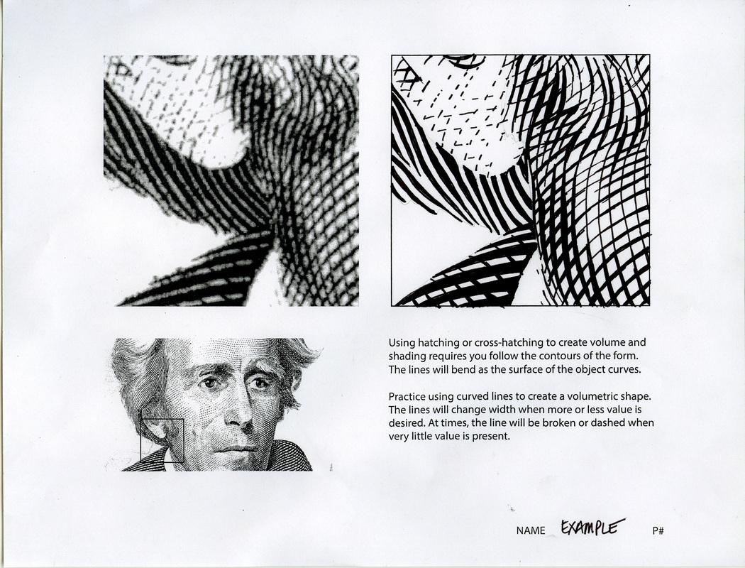 Ink Value Drawing Worksheet Three