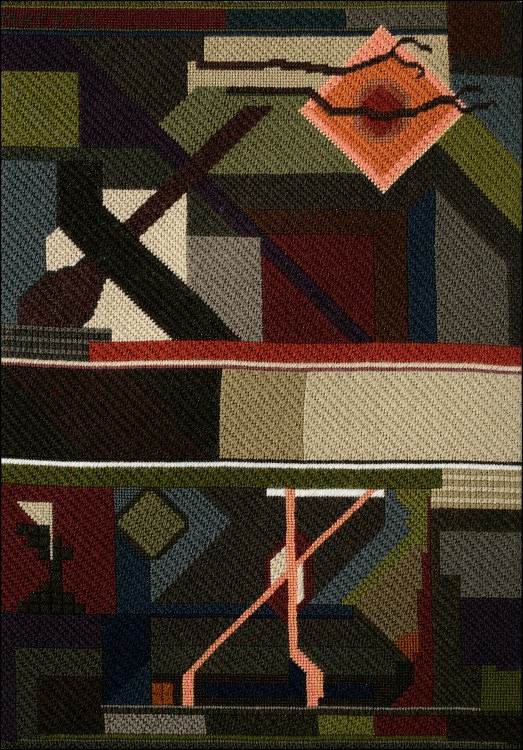 Mark Olshansky abstract needlepoint Alaska