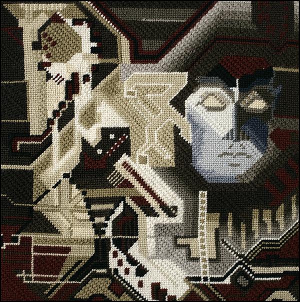 Mark Olshansky abstract needlepoint Dance