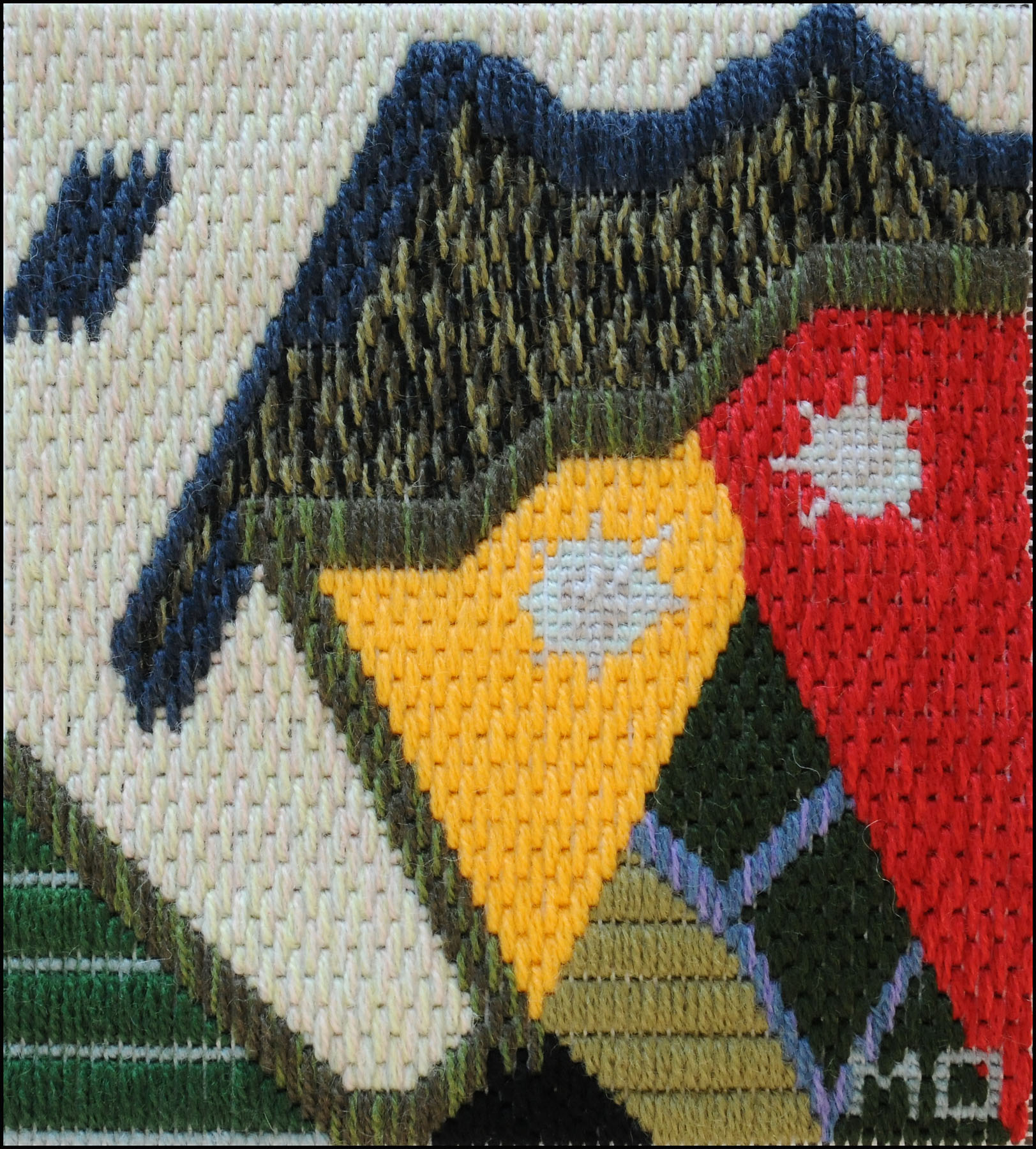 Mark Olshansky abstract needlepoint Garish Garnish