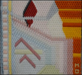 Mark Olshansky abstract needlepoint Mini 17