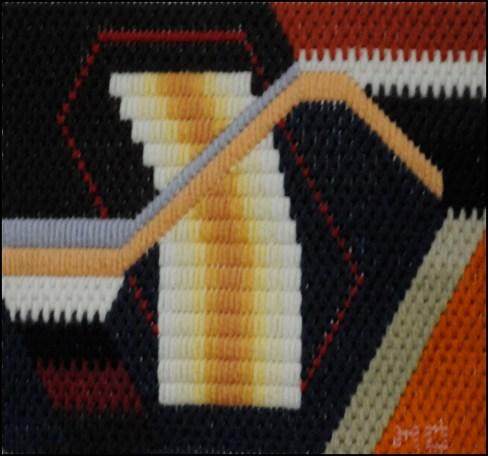 Mark Olshansky abstract needlepoint Mini 18