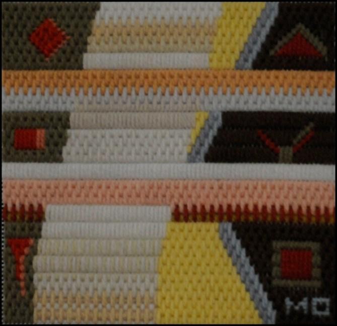 Mark Olshansy abstract needlepoint Mini 2