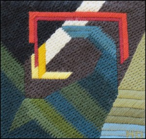 Mark Olshansky abstract needlepoint Mini 4
