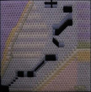 Mark Olshansky abstract needlepoint Mini 6