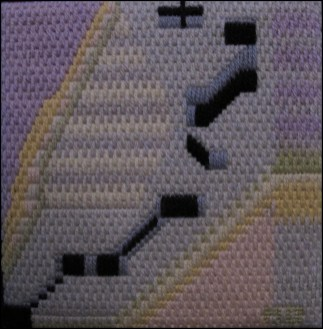 Mark Olshansky abstract needlepoint Mini 6