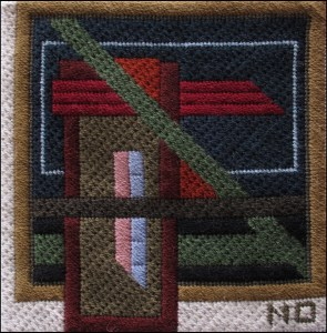 Mark Olshansky abstract needlepoint Fall Mini 6