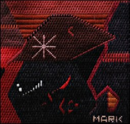 Mark Olshansky abstract needlepoint Red Wine
