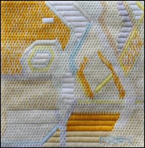 Mark Olshansky abstract needlepoint White Wine