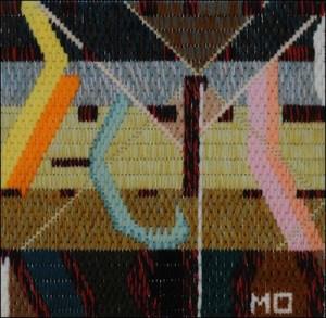 Mark Olshansky abstract needlepoint Clothes Dancing