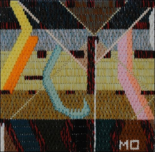 Mark Olshansky abstract needlepoint Clothes Dancing