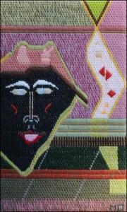 Mark Olshansky abstract needlepoint Halloween Chorister