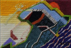Mark Olshansky abstract needlepoint Tidal Wave Without Oyster
