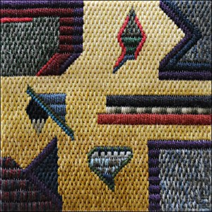Mark Olshansky abstract needlepoint Linguistic Ladder