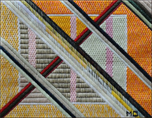 Mark Olshansky abstract needlepoint Pillow Talk