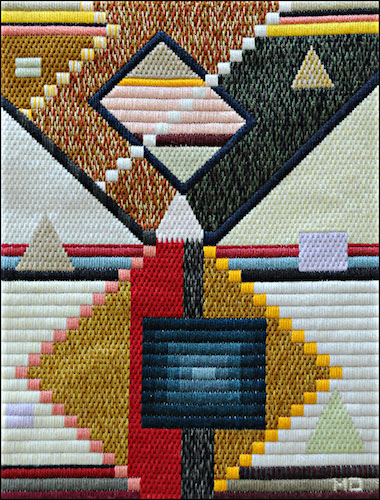 Mark Olshansky Abstract needlepoint Geometric Puddle
