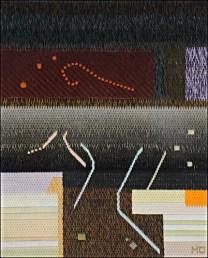 Mark Olshansky abstract needlepoint Off the Hook