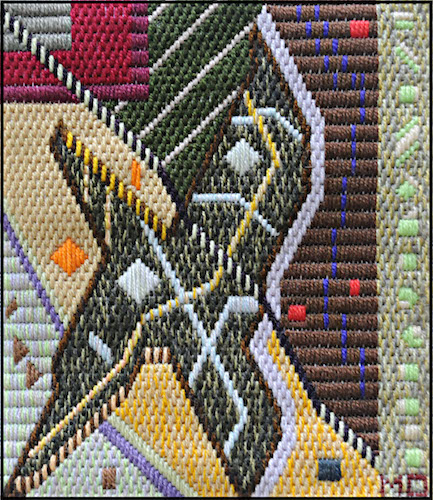Mark Olshansky Abstract Needlepoint Saturday Night Feverish