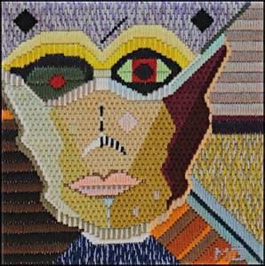 Mark Olshansky Abstract Needlepoint Spock's Nanny