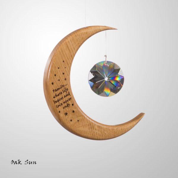 Medium Personalised Moon suncatcher