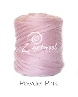 Powder Pink Merino Wool Chunky Yarn