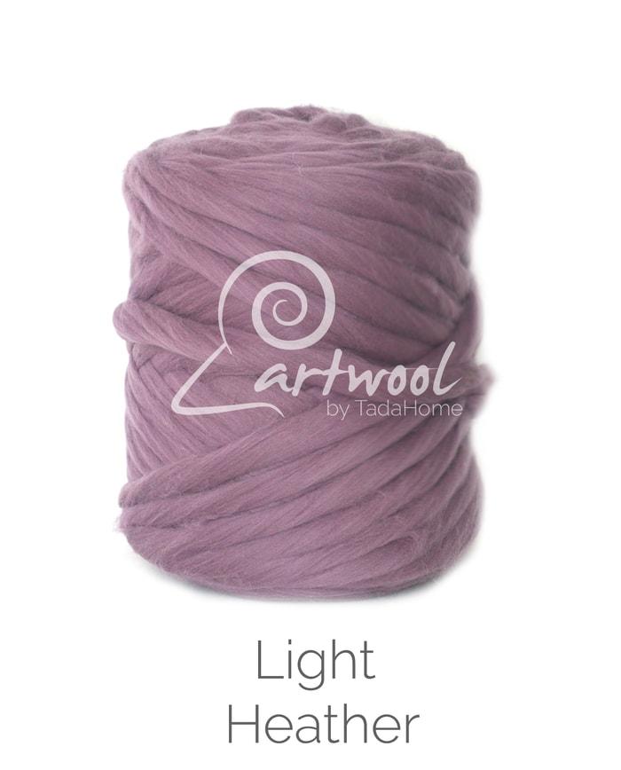 Light Heather Merino Wool Chunky Yarn