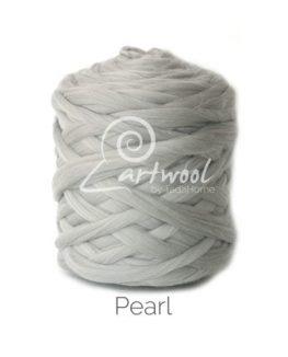 Pearl Grey Merino Wool Chunky Yarn