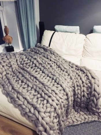 Light Grey Merino Wool Blanket