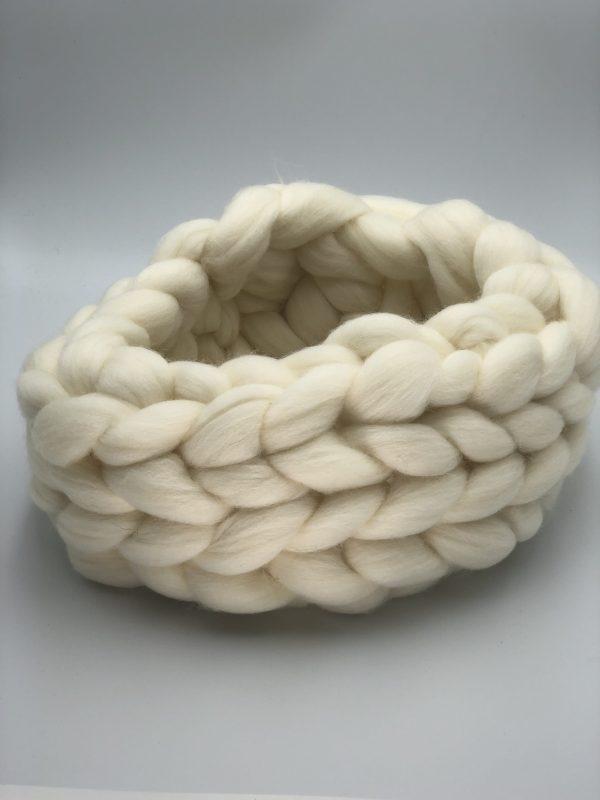 Natural Merino Wool Chunky Scarf