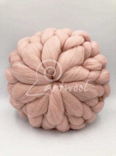 Light Pink Merino Wool Cushion