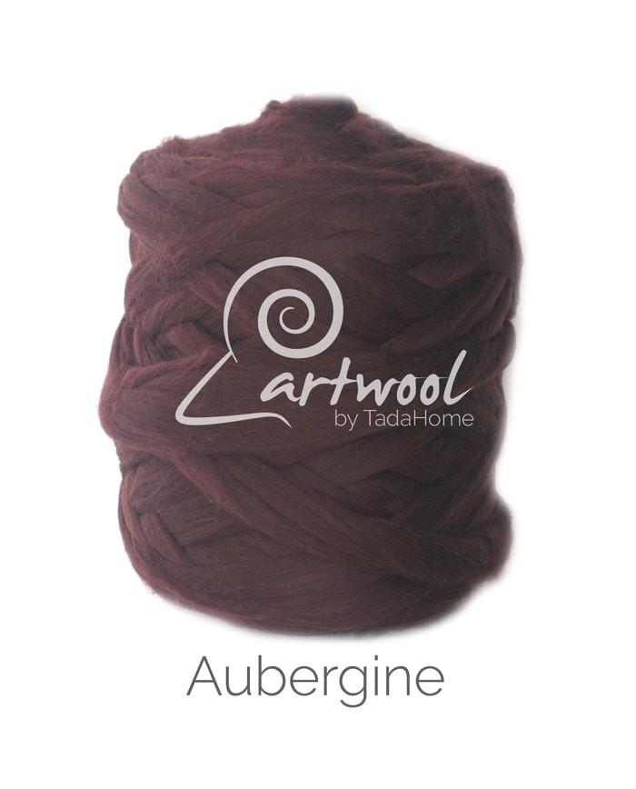 Aubergine Merino Wool Chunky Yarn